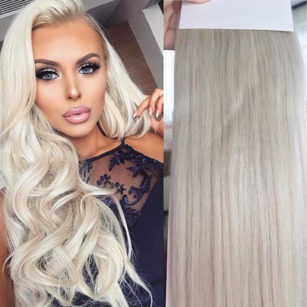 Coada Par Blond Ultra Cenusiu Silvera Esy Hair Frumusețe In