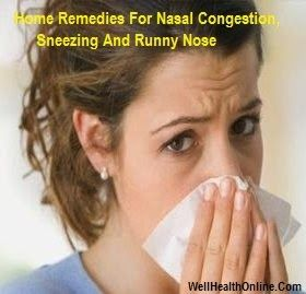 Home Remedies For Nasal Congestion, Sneezing And Runny ...