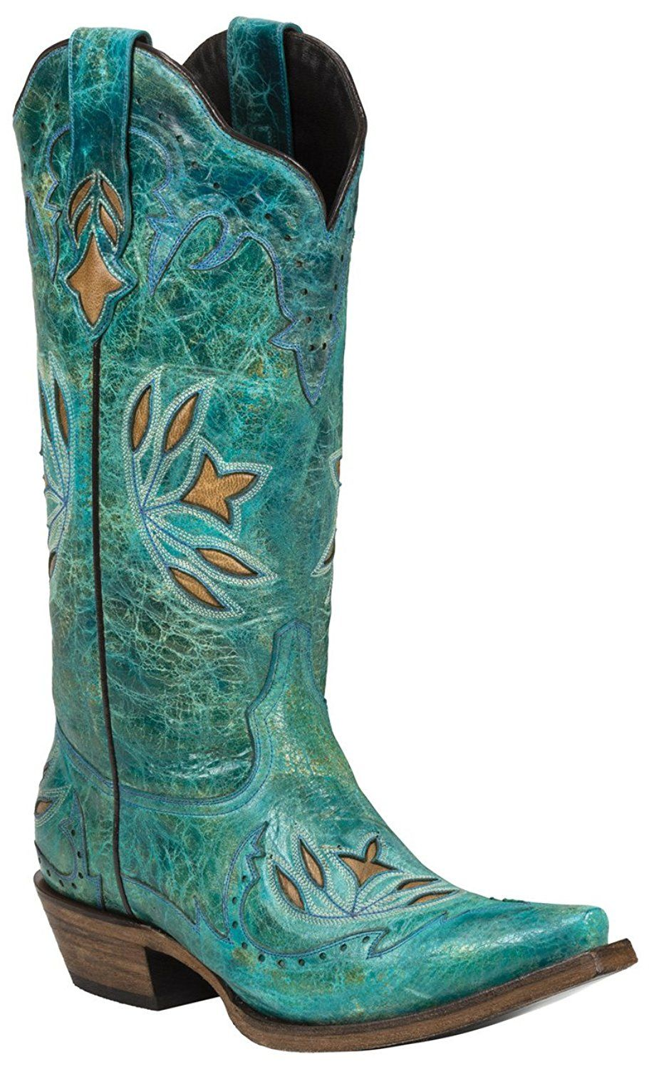 Black Star HIDALGO (Turquoise) Women's Cowboy Boots *** Find out ...