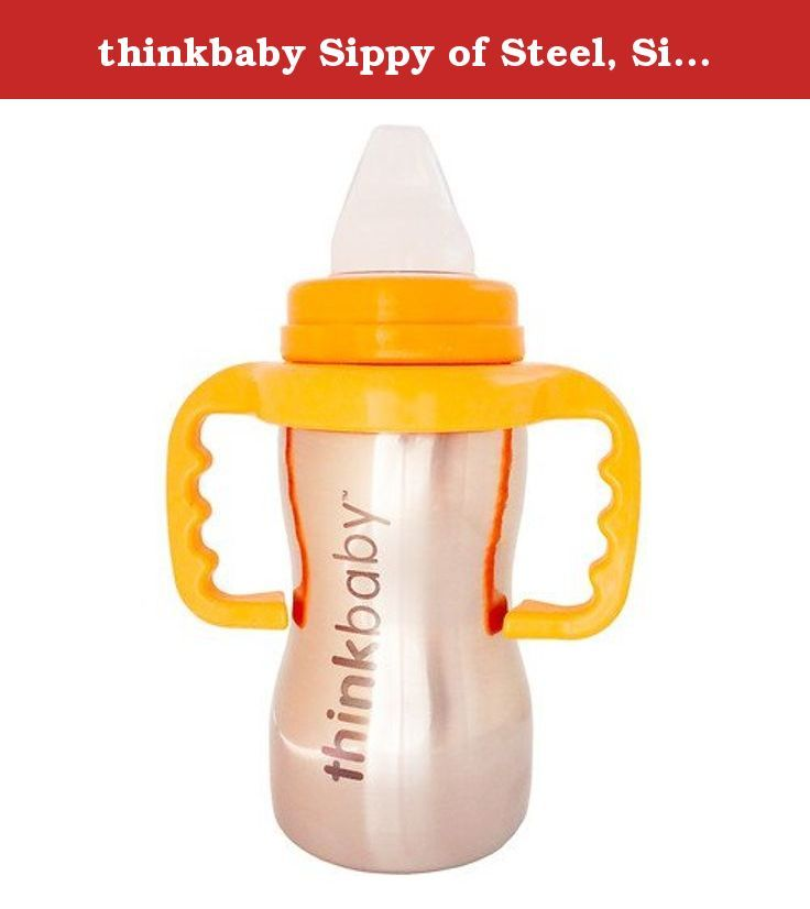 thinkbaby Sippy of Steel, Silver 9 oz / 250 ml (pack of 2). The design also mimics natural breastfeeding as it requires your little one to nurse to receive fluid. Most of the sippy cups on the market have hard plastic spouts or rubber spouts. We built the Thinkbaby Sippy Cups with soft silicone spouts. This makes for easy transition from baby bottles to sippy cups. This is a struggle that most parents face in moving to the next stage of feeding. With the Thinkbaby Sippy Cup, the little…