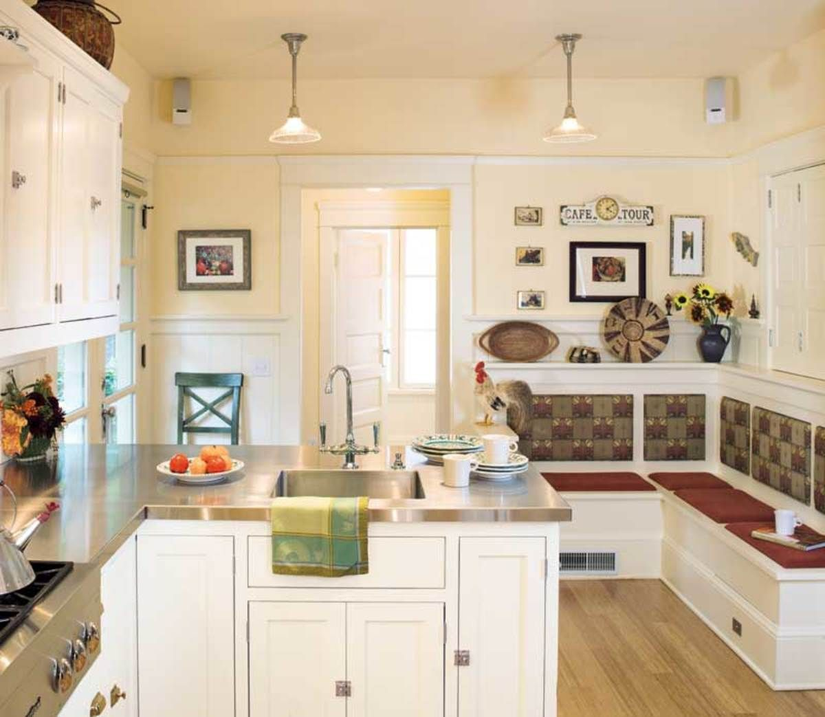 The eraus white kitchens were interpreted for this oregon foursquare