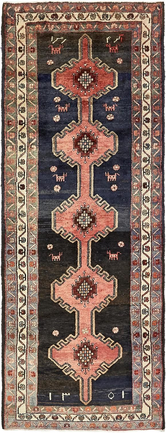 Black 3 6 X 9 2 Shahsavand Persian Runner Rug Rugs Erugs