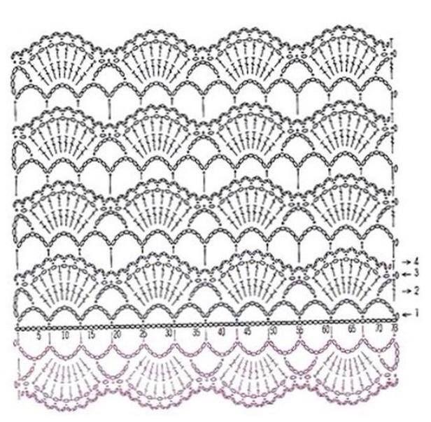 bufanda 5   crochet, patrones gratis   Pinterest   Crochet patrones ...