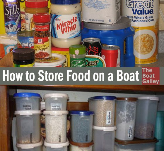 How To Store Food On A Boat