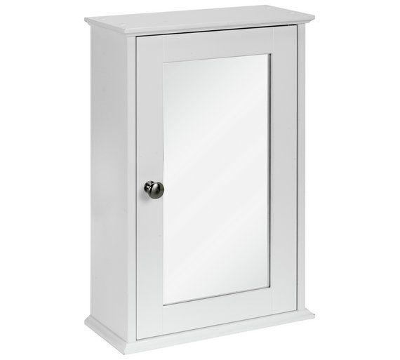 Buy Simple Value 1 Door Mirror Core Cabinet White At Argos Co Uk Visit Argos Co Uk To Shop Online For Bathroom Bathroom Wall Cabinets Mirror Door Argos Home