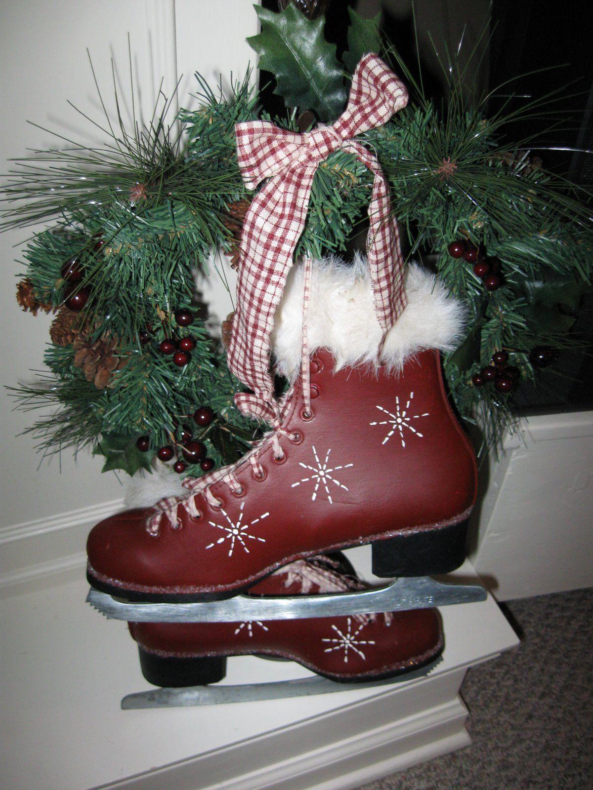 painting crafts, diy, ice skates, christmas, decorations.   holidays ...