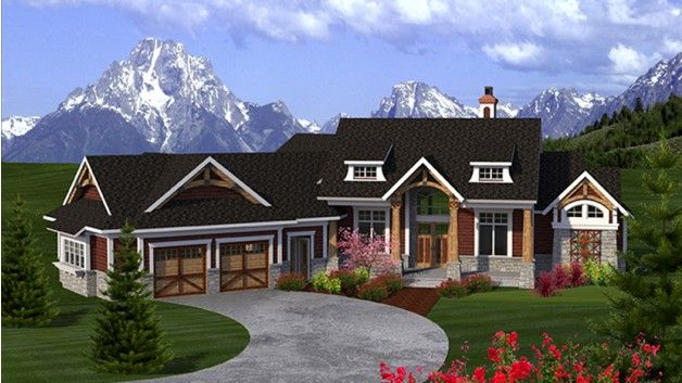 angled garage; AFLFPW77258 | House Plan Ideas | Craftsman ... on angled cottage house plans, angled fireplaces, angled house floor plans, angled small house plans, angled garage house plans, unique angled house plans, l shaped ranch house plans, angled kitchen, angled one story house plans, angled house plans with porches,