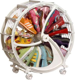 Obviously I donu0027t NEED a shoe wheel and nor do my kids but if the shoe fits. The Rakkiddo Shoe Wheel is possibly the coolest way to store shoes that Iu0027ve  sc 1 st  Pinterest & Oh my OCD loves the idea of organizing Josieu0027s shoes by color in ...