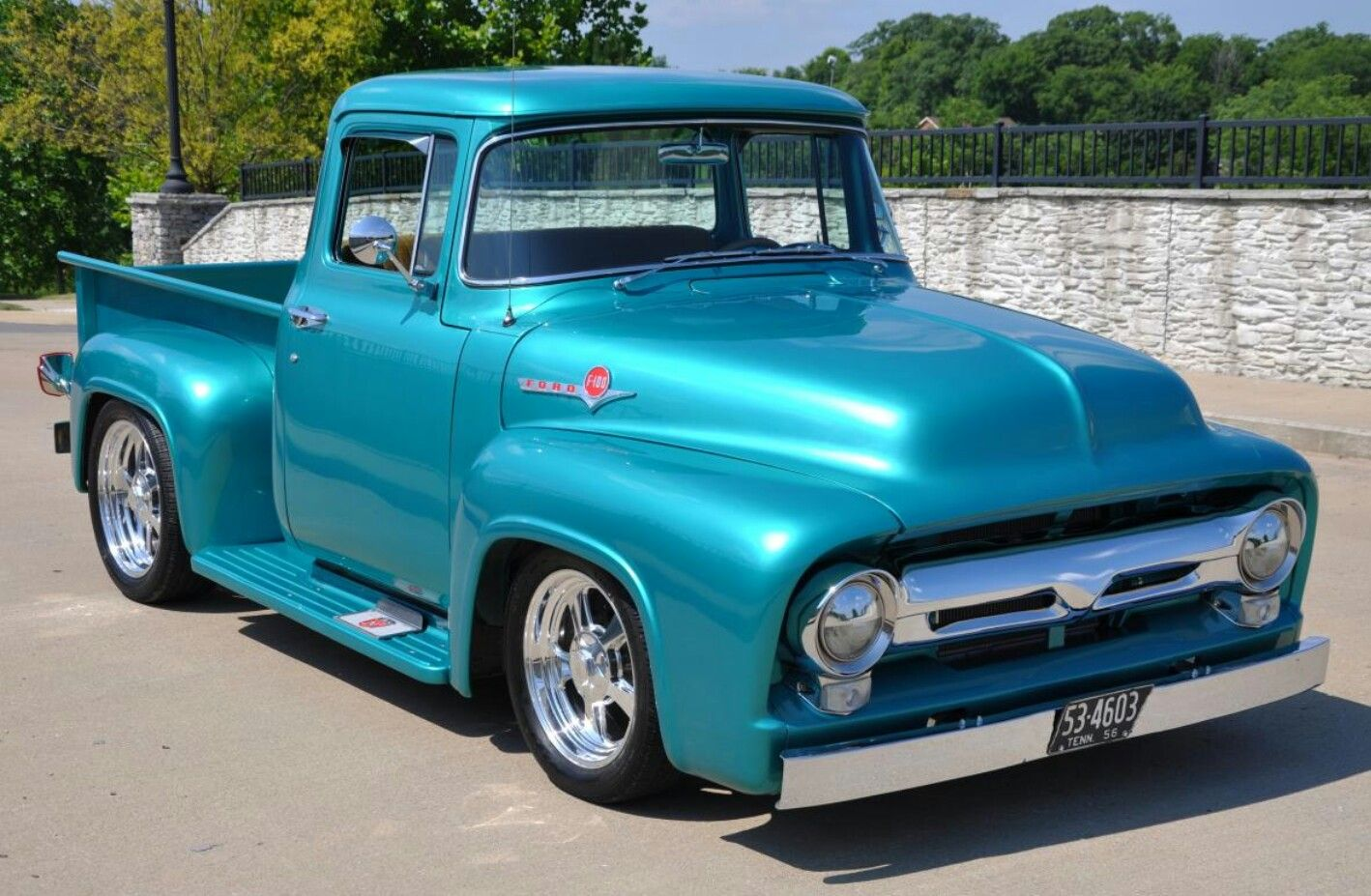 56 FORD F-100 | Hot Rods | Ford pickup trucks, 56 ford ...1956 Ford F100 Lifted