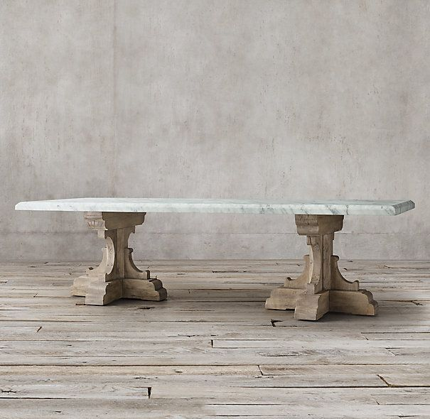 17th C French Bastide Oak Marble Rectangular Dining Table Dining Table Marble Dining Table French Dining Tables