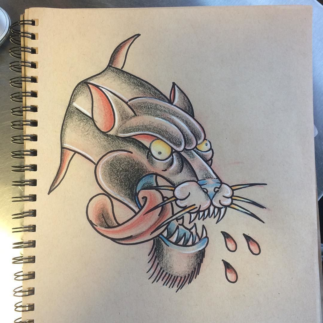 45++ Amazing Traditional panther tattoo flash ideas