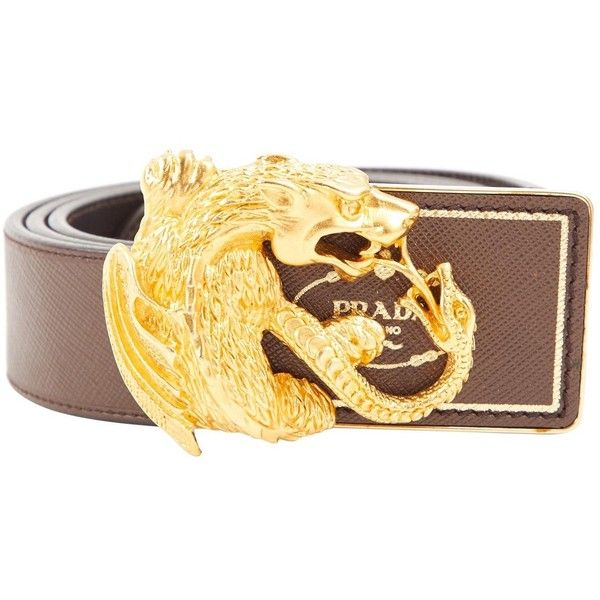 13142b3fd Pre-owned Prada Leather Belt (€170) ❤ liked on Polyvore featuring men s  fashion