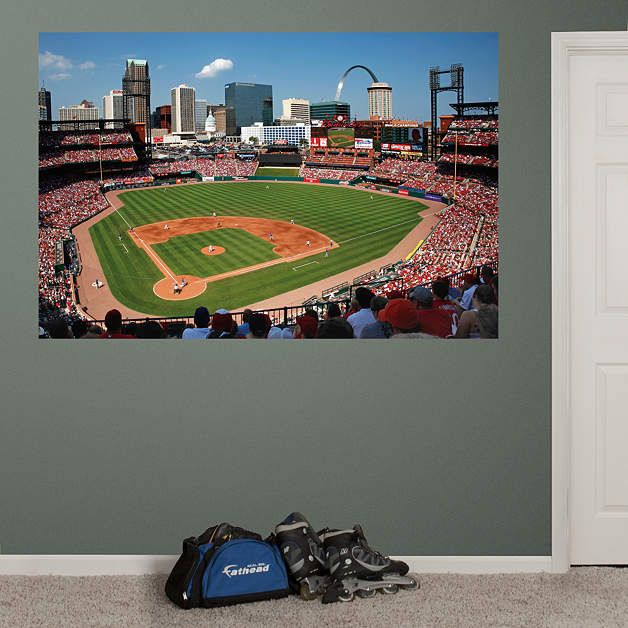 Inside Busch Stadium Mural Fathead Wall Graphic