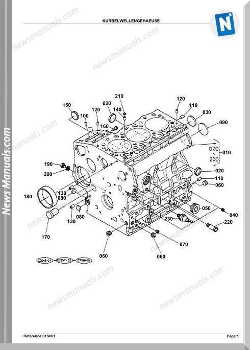 Kubota Engine Kx61Hab Parts Manuals