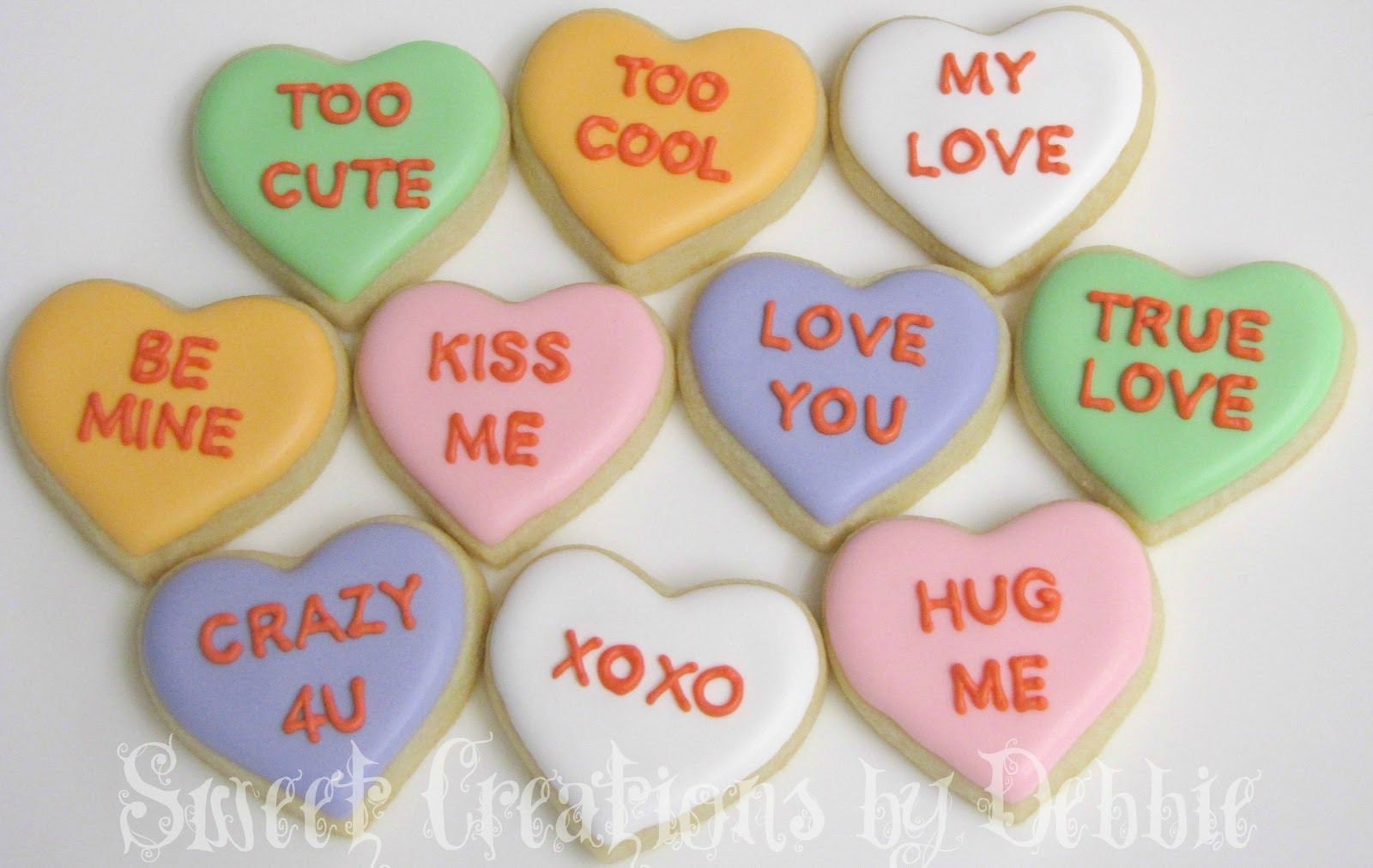 Valentine Candy Hearts Sayings In Acronyms Sweet Creations By