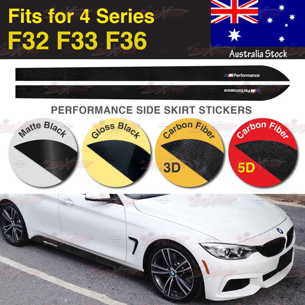 M Performance Side Skirt Sill MATTE Vinyl Decal Stickers for BMW F20 1 Series