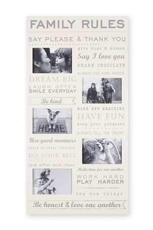 Buy Family Rules Frame from the Next UK online shop | Home stuff ...