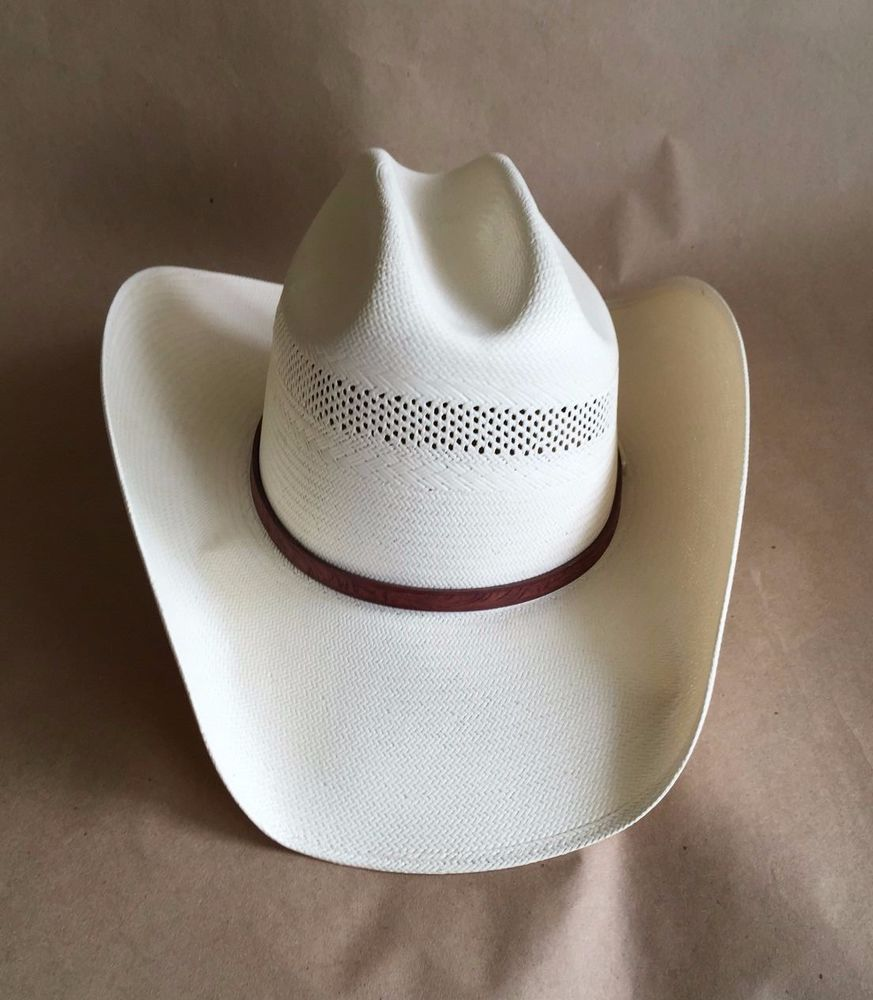 5c626a12a9336 Stetson Shantung Panama Natural 100X Authentic Western Straw Hat Men s 7  1 2  Stetson  CowboyWestern