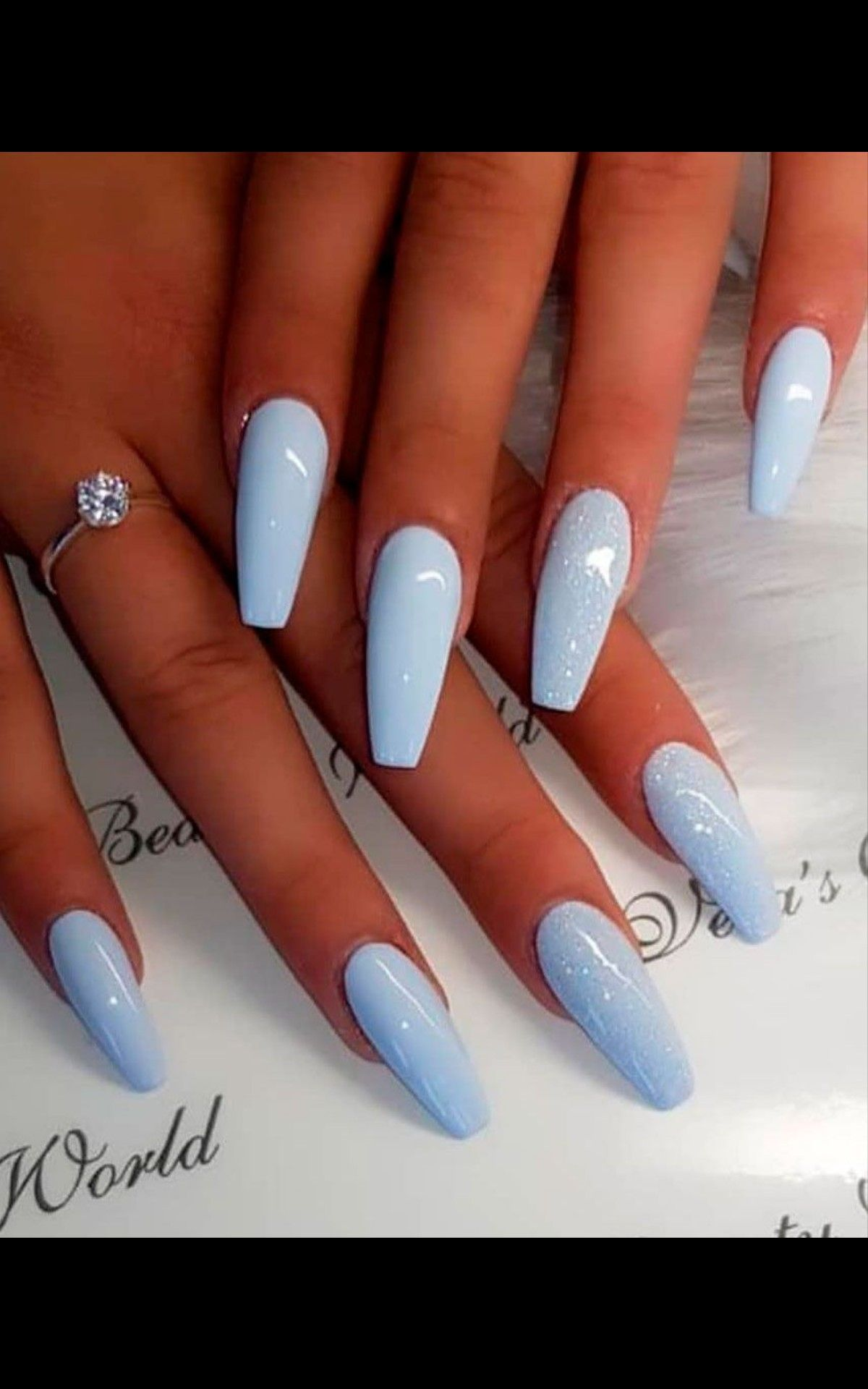 Pastel Blue Nails In 2020 Best Acrylic Nails Blue Acrylic Nails Summer Acrylic Nails