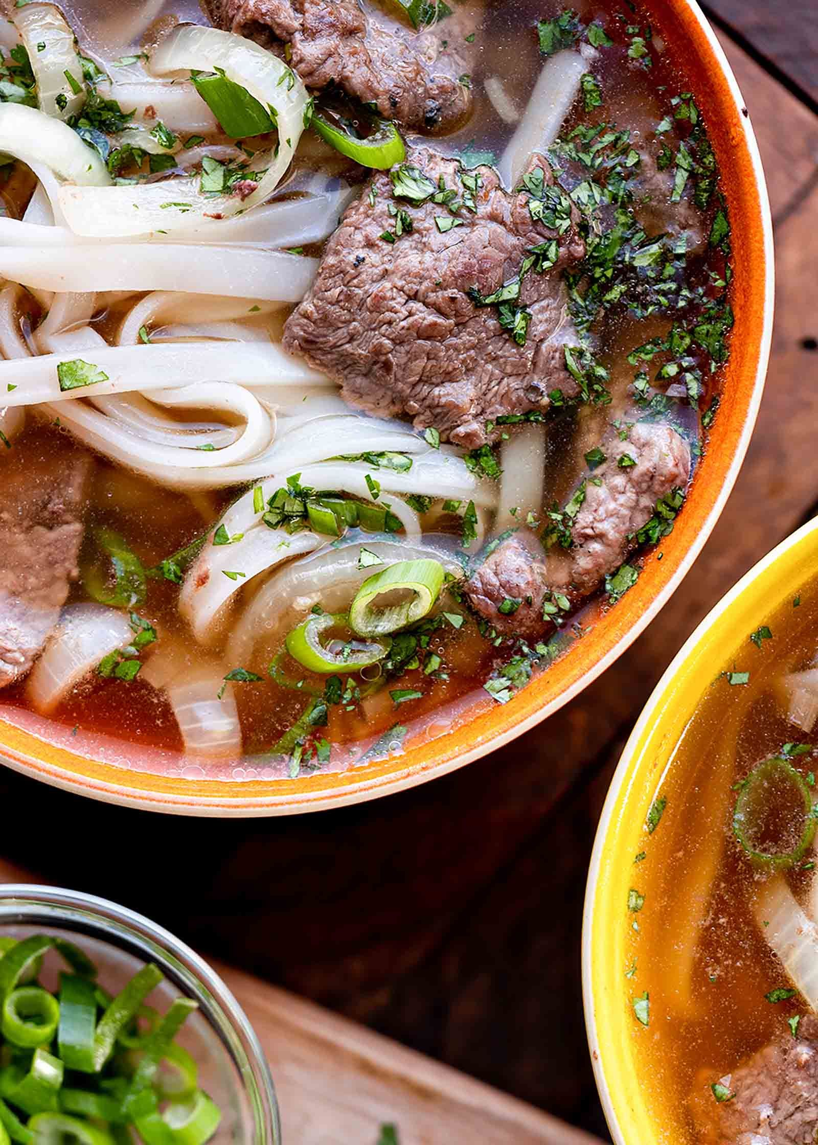 Easy Wok-Kissed Beef Pho! Homemade beef pho on a weeknight? YES