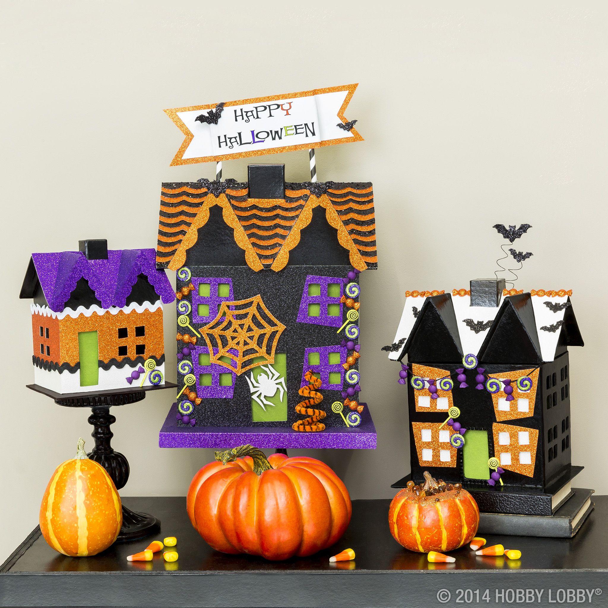 Paper Mache House Shape Set Shop Hobby Lobby Halloween Crafts Decorations Halloween Activities For Kids Art Craft Store
