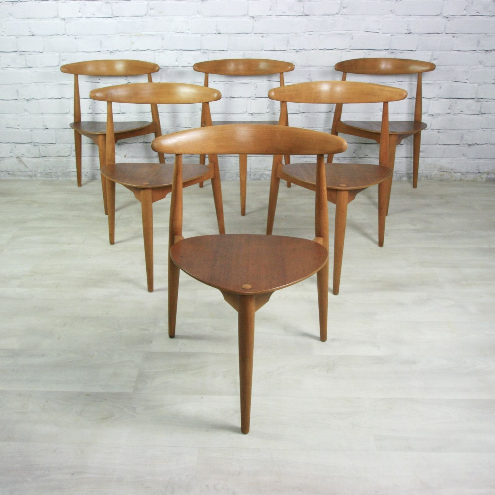 vintage hans wegner for fritz hansen heart dining table 6