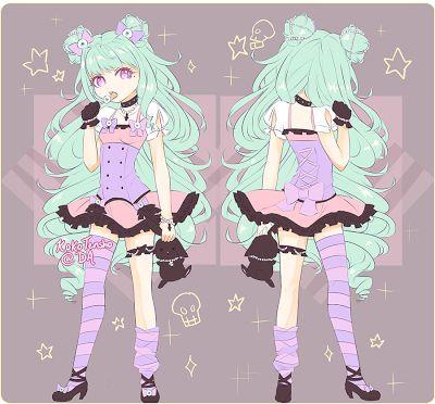 Anime Pastel Goth Girl Pastel Goth Art Pastel Goth Cute Drawings