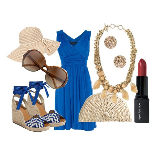 I love this dress and hat! The shoes are cute, but I prefer flipflops.