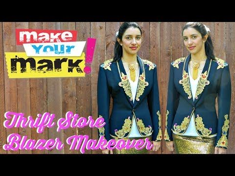 How to: Thrift Store Blazer Makeover