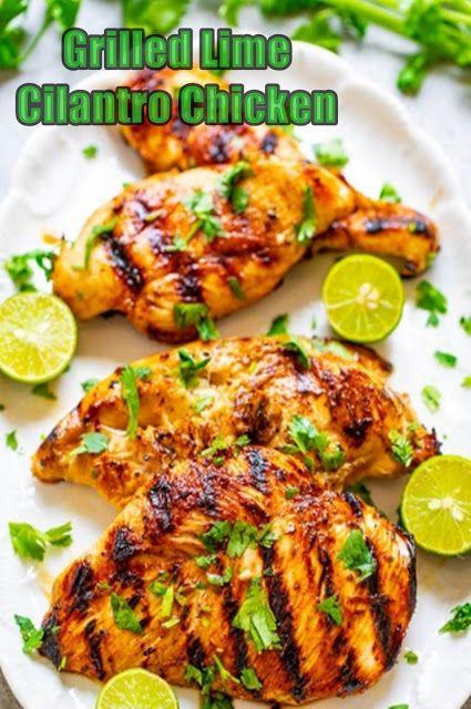 Grilled Lime Cilantro Chicken  #grilledchickenparmesan