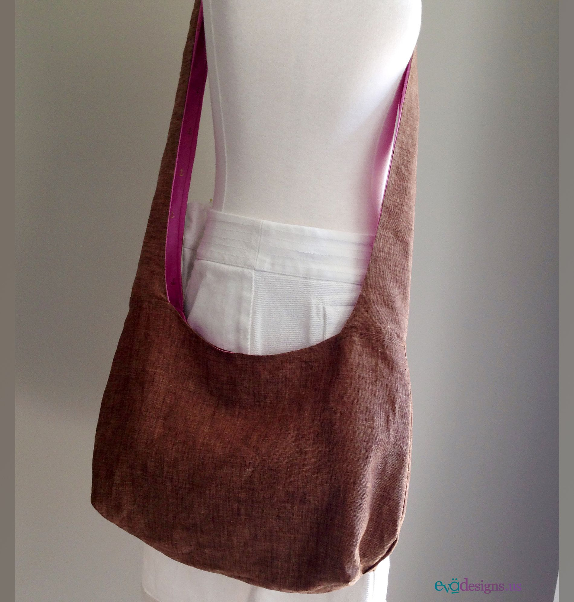 Packable sling neutral brown crossbody bag you can take anywhere. This bag is so easy to wear and accommodates a lot of stuff.  (Three pockets covering one full side on the inside and one pocket on…