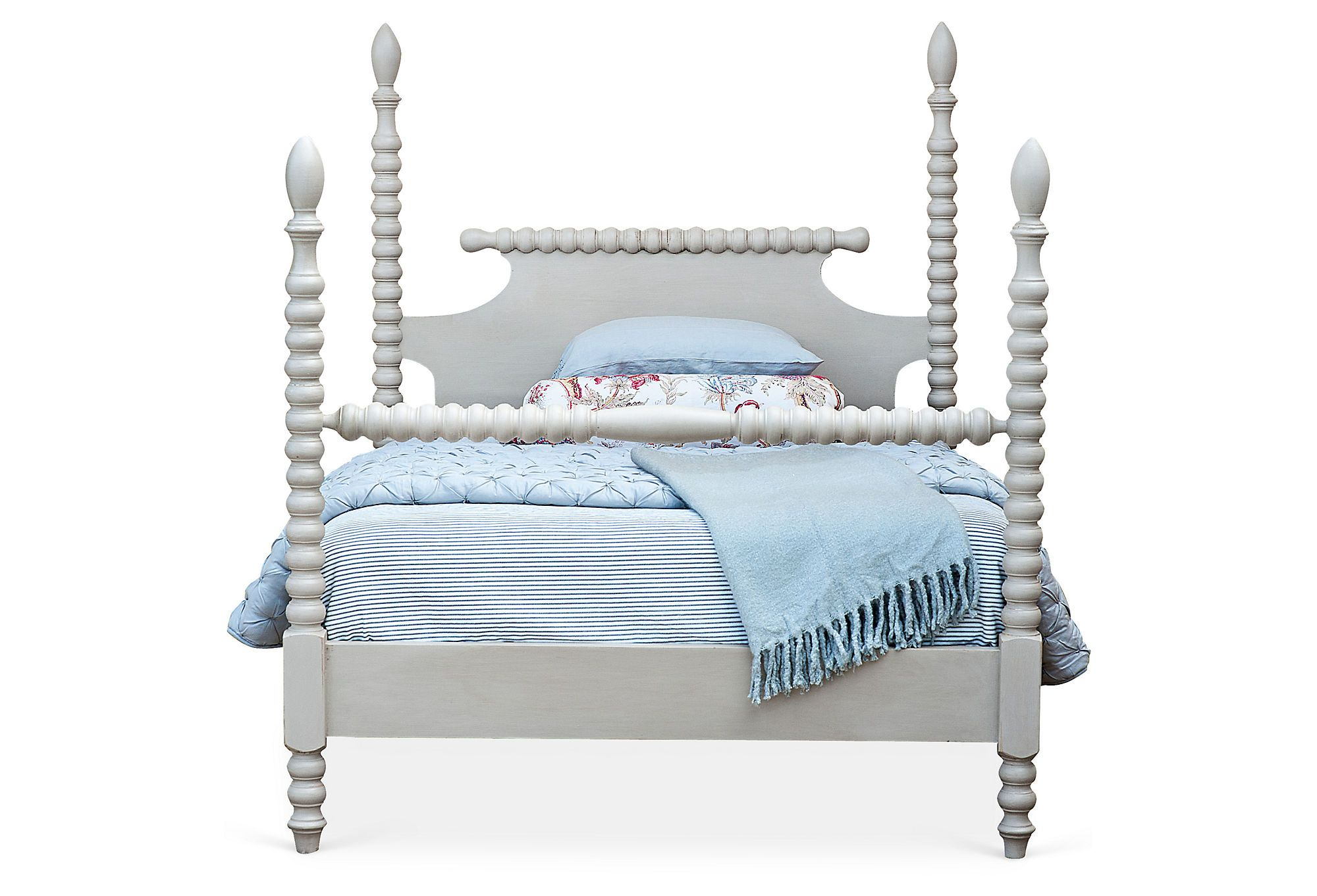 One kings lane play with pattern gwendoline spindle bed gray