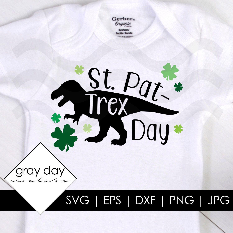 Patrick/'s Day Gift Toddler//Infant Kids T-Shirt Irish T-Rex Dinosaur Clover St