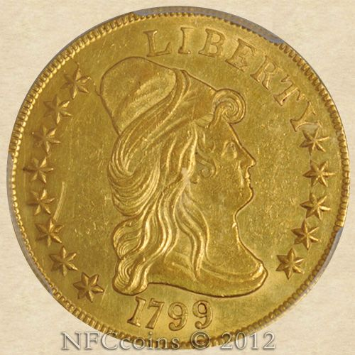 1799 Ten Dollar Gold Capped Bust Au58 Pcgs Obverse Gold Coins Gold Bullion Gold Caps