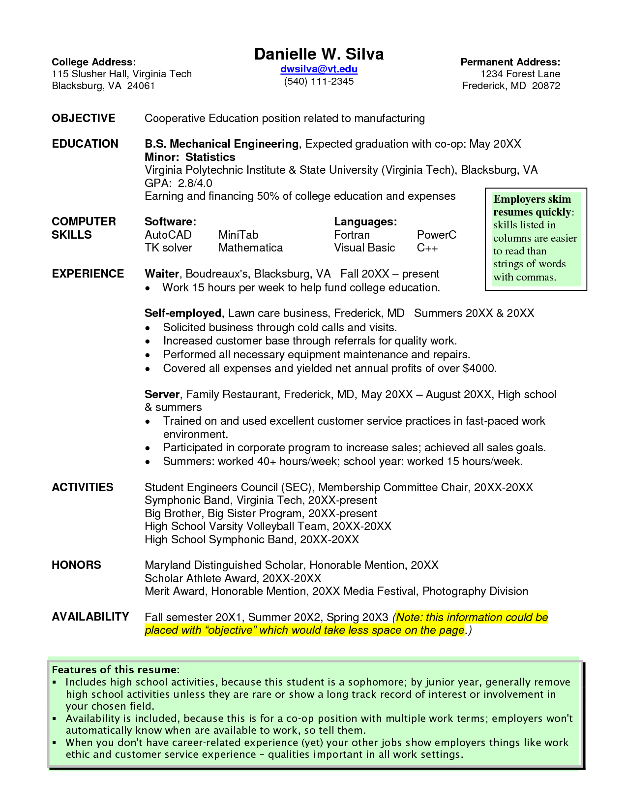 waitress resume templates     jobresume website