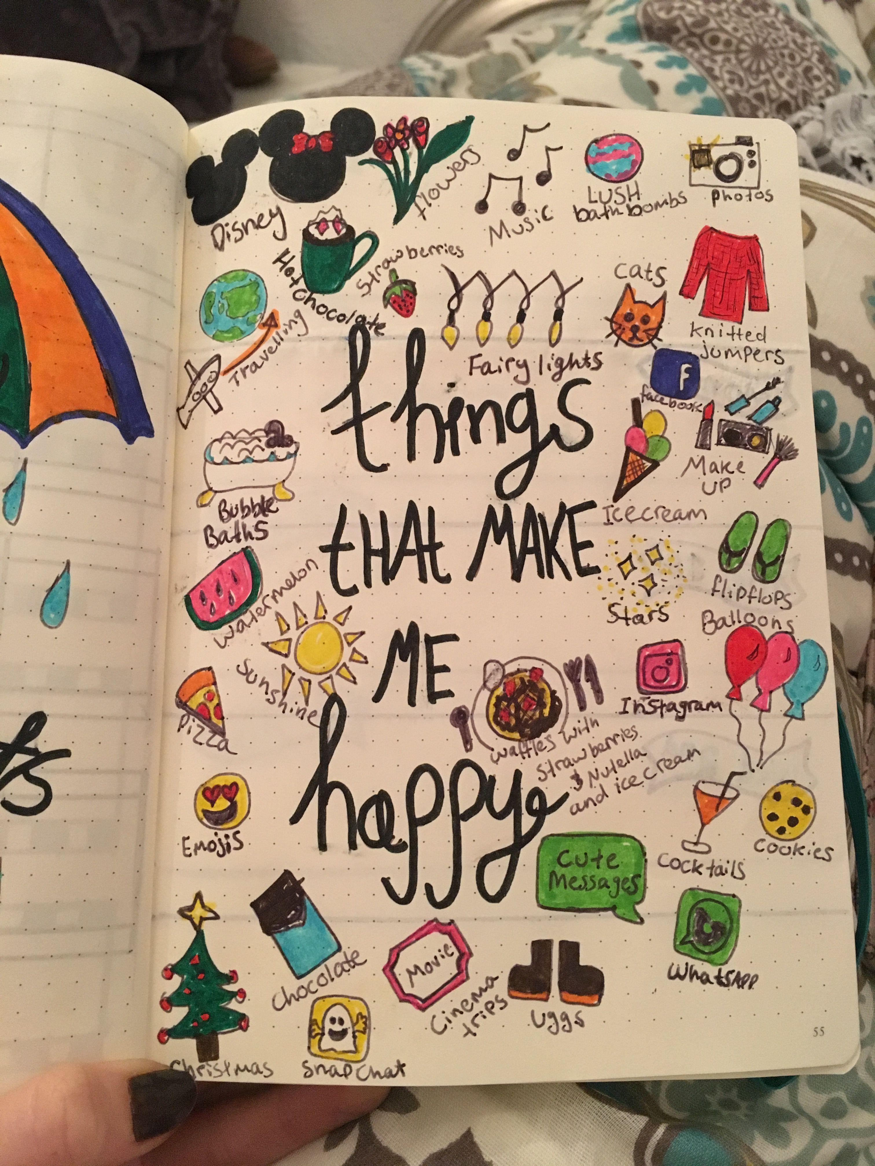 Bullet journal, things that make me happy | love it ...