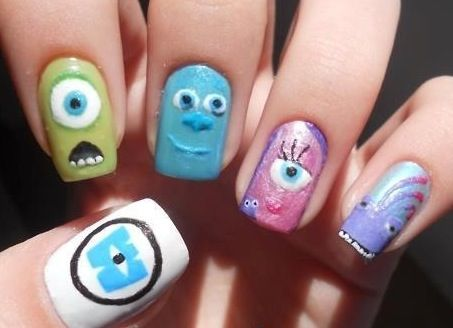Monsters Inc The Coolest Nails Ever Paint Your Pretties