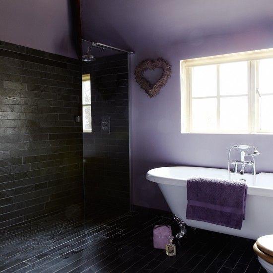lila und schiefer bad wohnideen badezimmer living ideas bathroom, Hause ideen