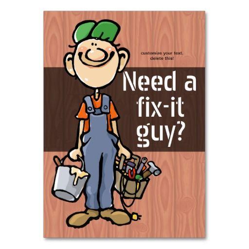 Job Hunting Handyman Fix It Carpenter Painter Business Card