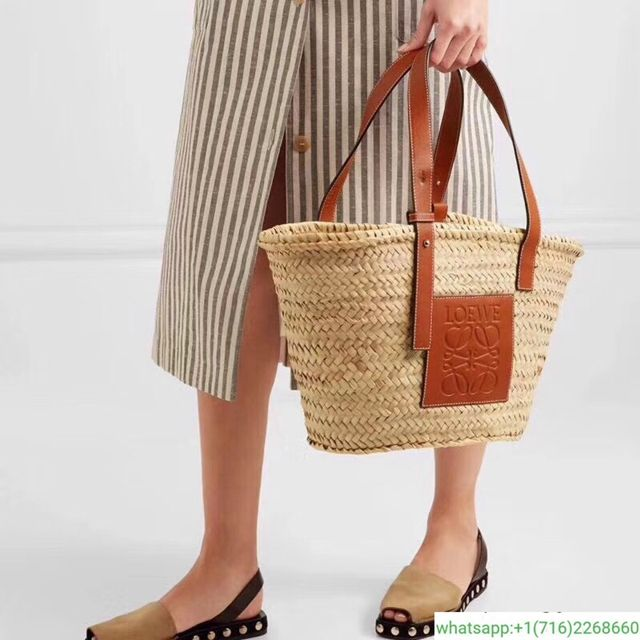 76b9a70a822575 Loewe Large Raffia Basket Tote Bag | Accessories / footwear / bags ...