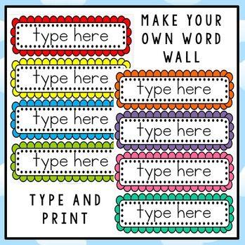 FREE Editable Word Wall Template | Marie take a peak | Pinterest ...