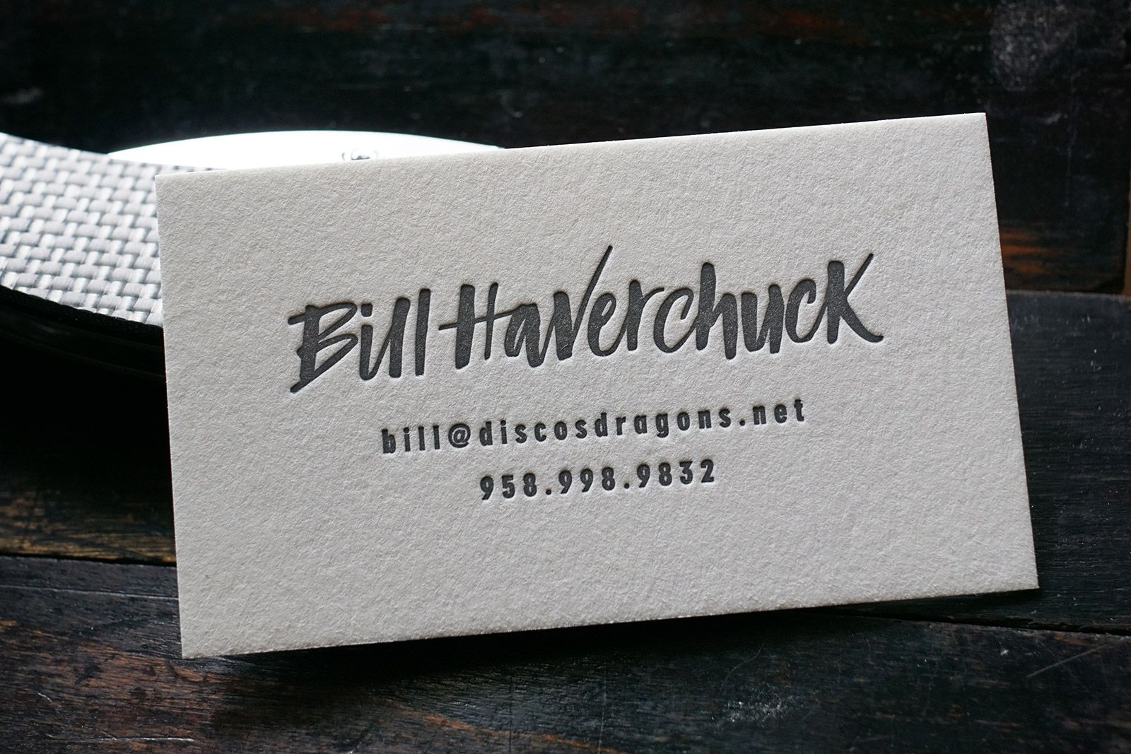 The Vagabond - A hand lettered, letterpress printed calling card ...