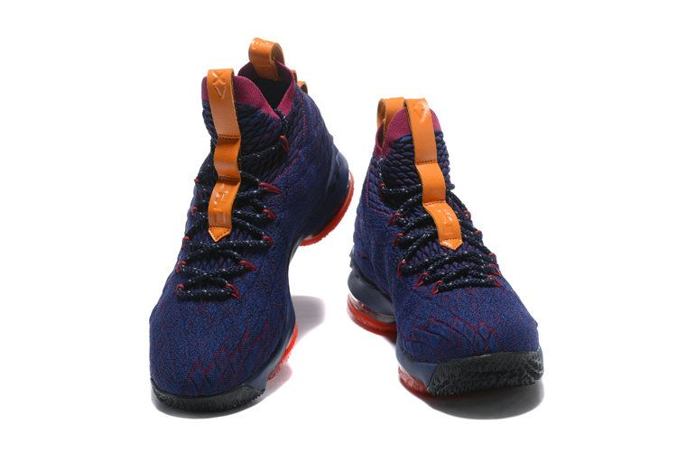 fb4dea13a01b Official Nike LeBron 15 Cavs Navy Blue Wine Red-Orange