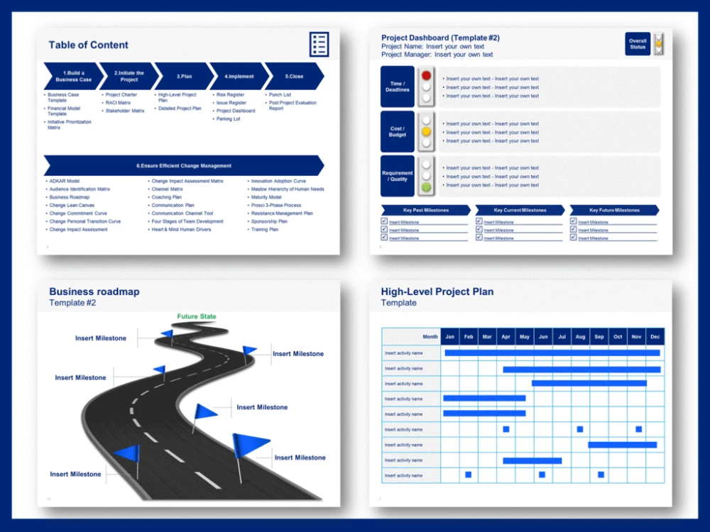 Change Project Management Toolkit Project Management Project Management Templates Change Management