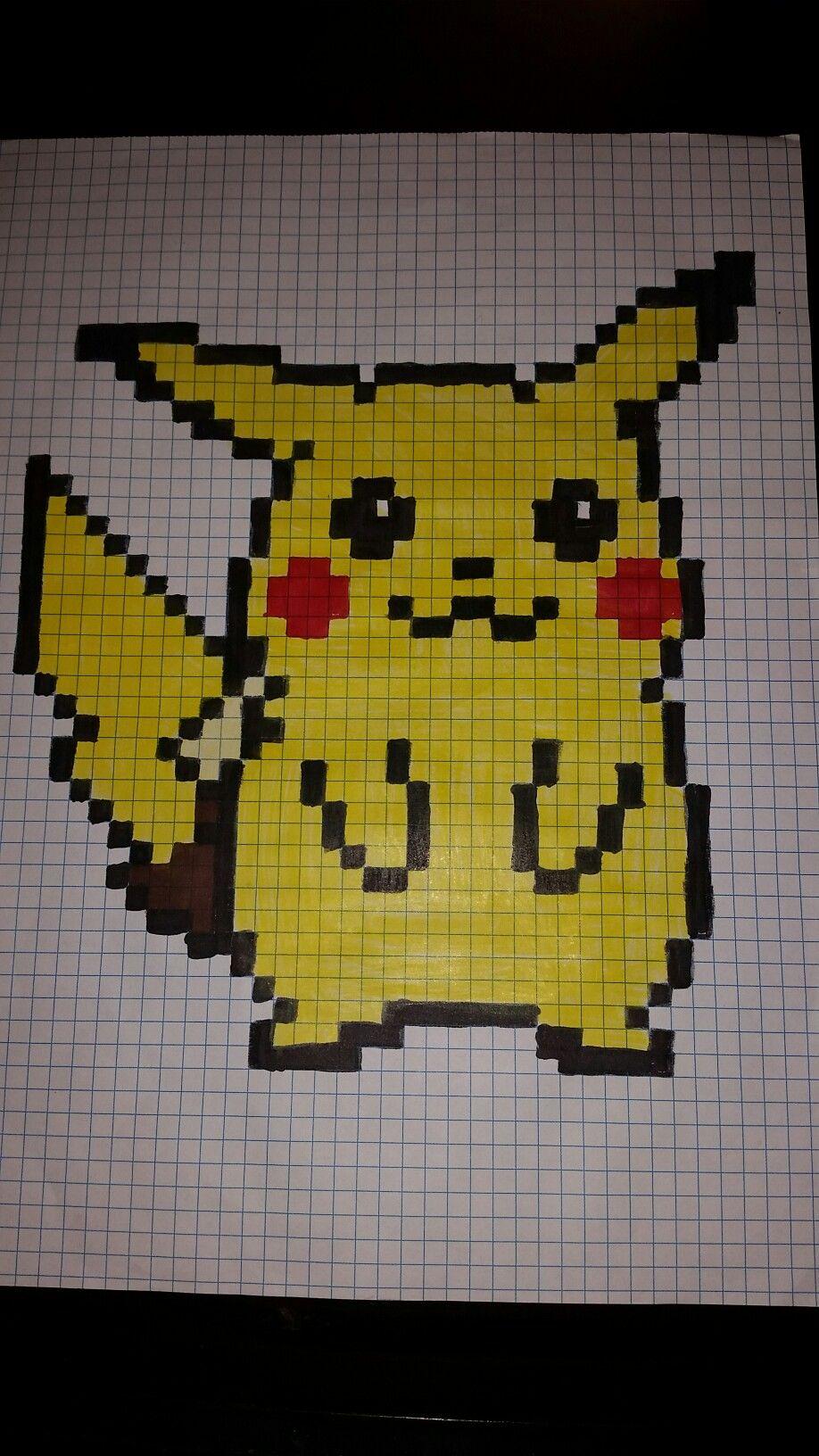 Pikachu Pixel Art Dibujos En Cuadricula Dibujos Kawaii Arte Pixel