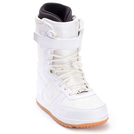 Nike Zoom Force 1 White Mens Snowboard Boots Zumiez Snowboard Boots Classic Nike Shoes Nike Zoom