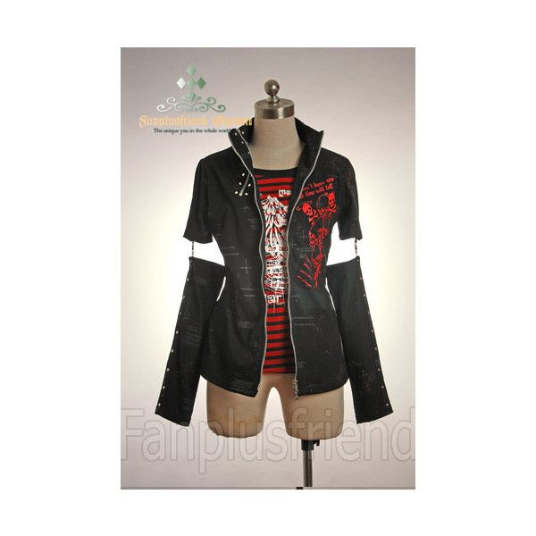 Cosmates Japan - Gothic Lolita - Jacket - Visual Kei Punk Detached... ($52) ❤ liked on Polyvore featuring outerwear, jackets, goth jacket, punk rock jacket, punk jacket, punk gothic jacket and gothic jackets
