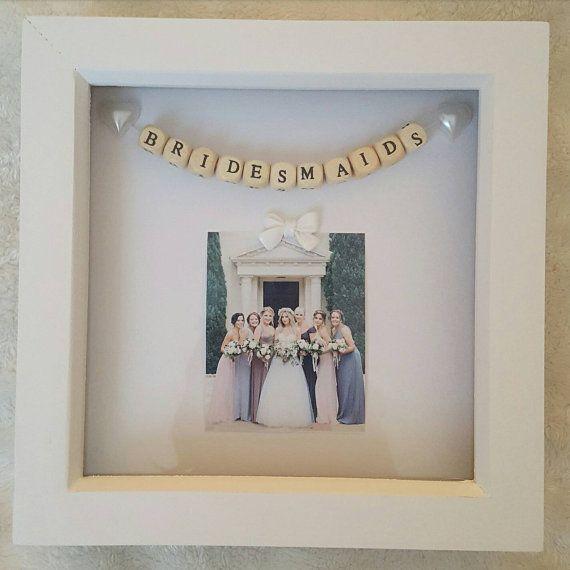Wedding Box Frame Bridesmaids by PreciousPicsCo on Etsy | Crafts ...