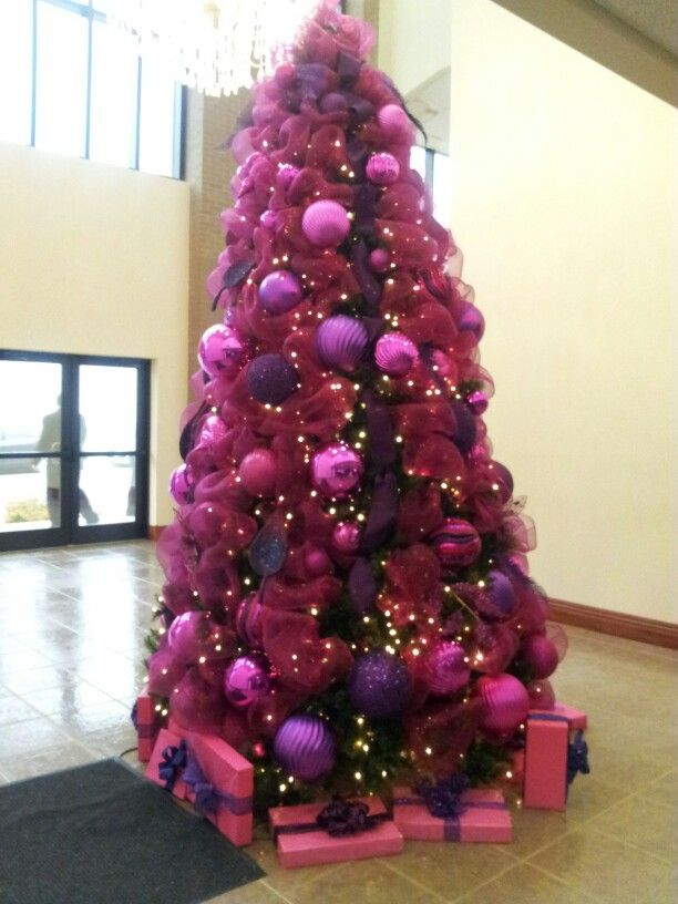 Pink And Purple Christmas Tree Christmas Winter Decor Ideas
