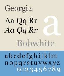 Georgia Is A Transitional Serif Typeface Designed In 1993 By Matthew